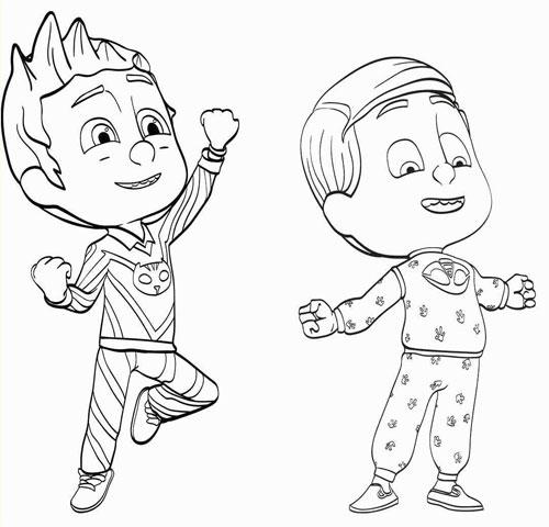 Pijamaskeliler Boyama Sayfasi Resimleri Bebeklere Net