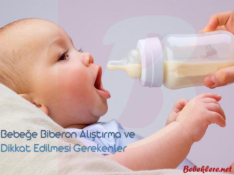 Bebeğe biberon alıştırma yöntemleri